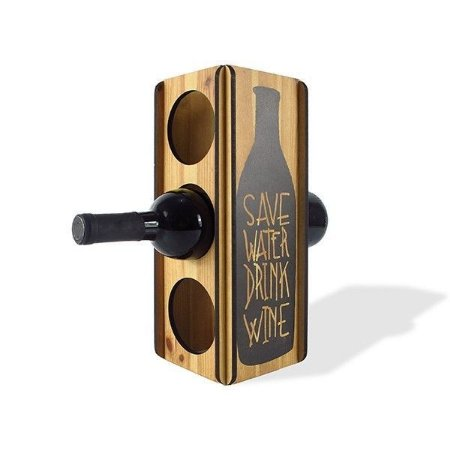 Mini adega Save Water Drink Wine - 3 garrafas