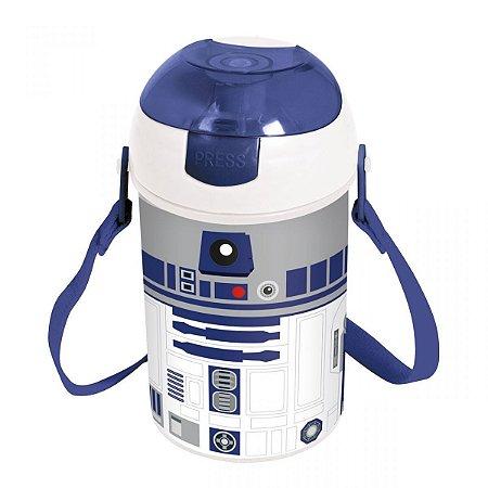 77e23f45b30c27 Garrafa Pop Up Star Wars - R2D2