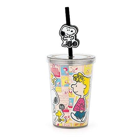 Mini Copo com Canudo - Pingente Snoopy