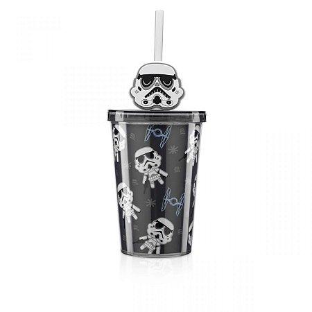 Mini Copo com Canudo - Pingente Stormtrooper - Star Wars