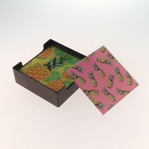 Porta Copos com 6 Peças - Abacaxi