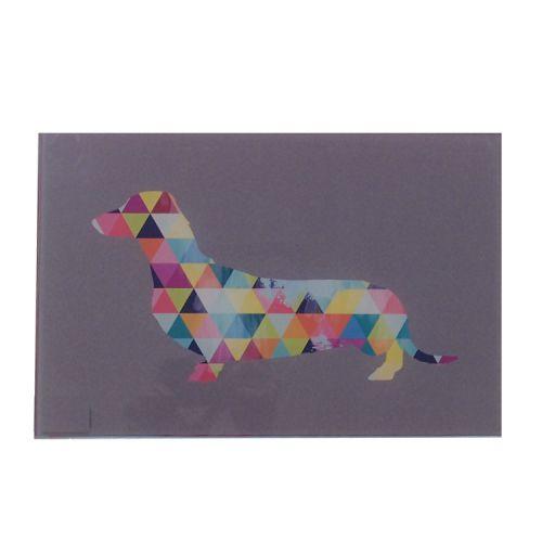 Quadro Triângulos - Cachorro
