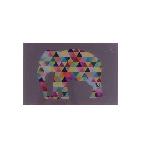 Quadro Triângulos - Elefante