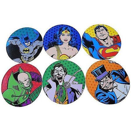 Porta Copos DC Comics - Personagens Colorido