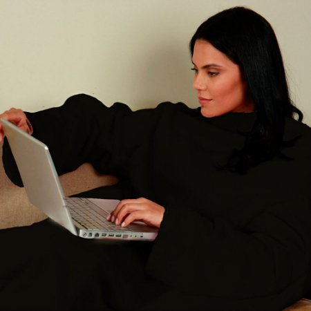 Cobertor com Mangas Adulto - Preto