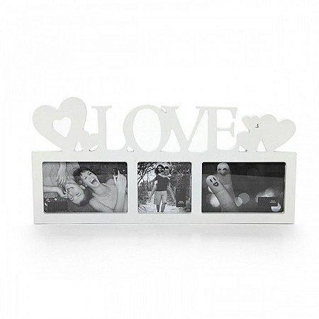 Porta Retrato Triplo - Love