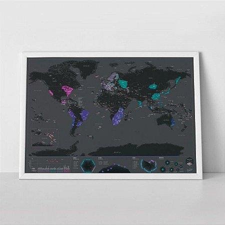 Mapa Mundi Raspadinha Black Edition