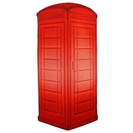 Luminária Cabine Telefônica - Vermelha