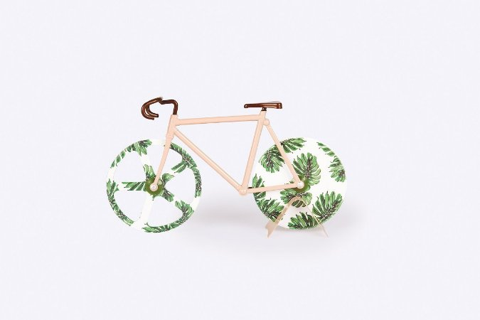 Cortador de Pizza Bike Tropical Vintage