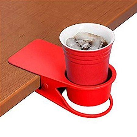 Porta Copos Clip - Vermelho