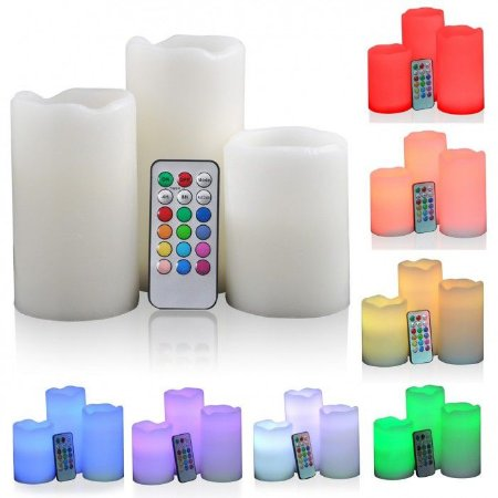 Conjunto de 3 Velas LED Decorativas