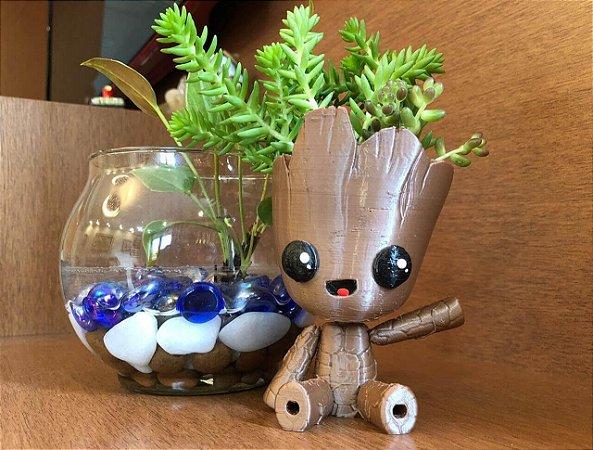 Vasinho Baby Groot (mini) para Suculentas e Cactus
