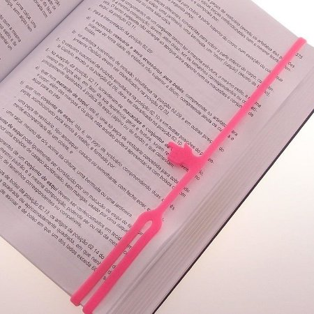 Marcador de Livro de Silicone Dedo - Rosa