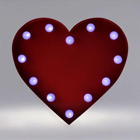 Luminária Metal com Luz de Led Coração