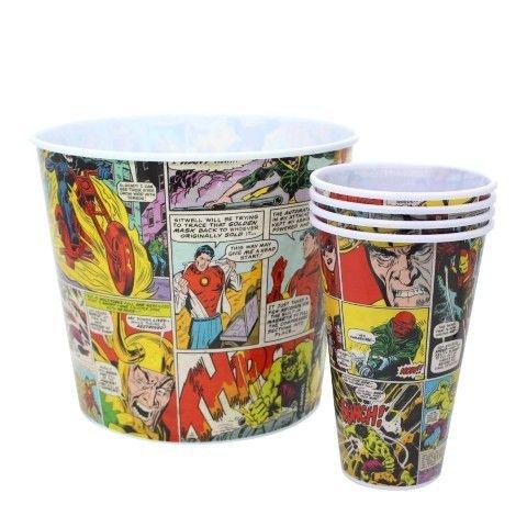 Kit Pipoca História em Quadrinhos Marvel Colorido