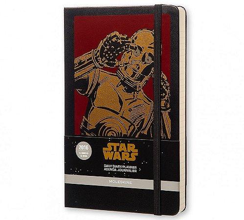 Agenda Moleskine Grande Diária Edição Limitada Star Wars VII C-3PO