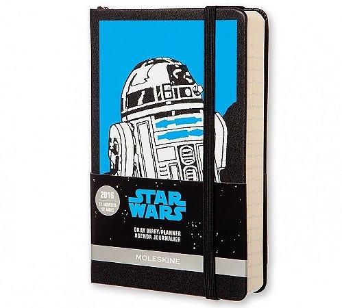 Agenda de Bolso Moleskine Diária Edição Limitada Star Wars VII R2-D2