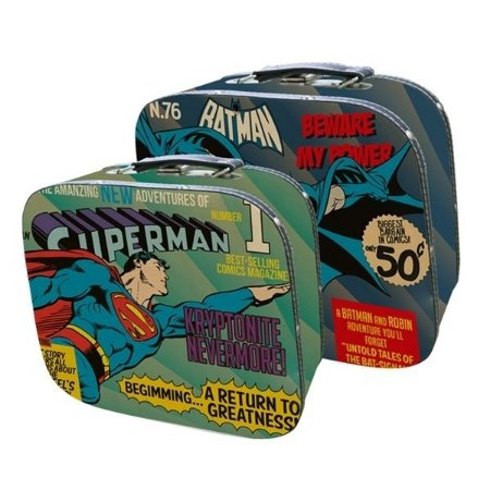Set com 2 Maletas - Superman e Batman