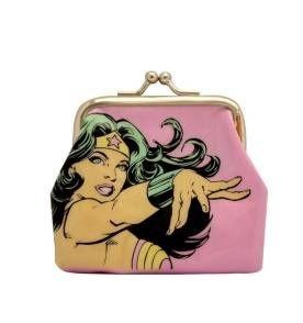 Porta Moedas DC Comics Mulher Maravilha Rosa