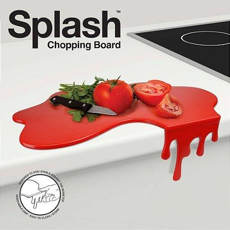 Tábua de Cortar Splash Vermelha