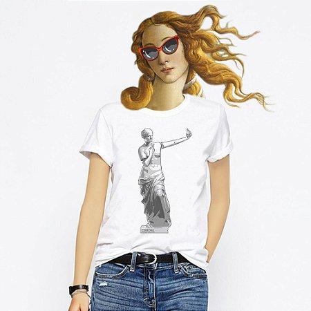 Camiseta Feminina, Venus de Selfie