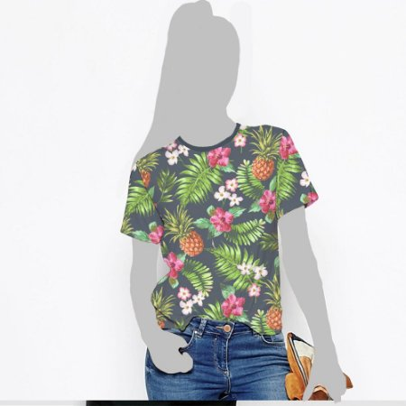Camiseta Feminina, Vibe Tropical