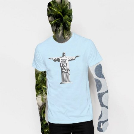 Camiseta,  JC Free Hugs, Redentor de braços abertos