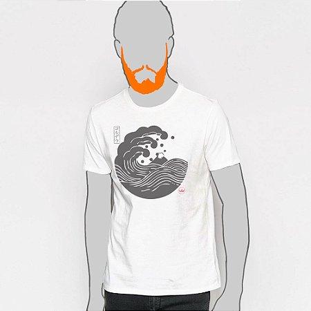 Camiseta,  Big Wave Kamon Cordel In Japan Hatsushika Hokusai