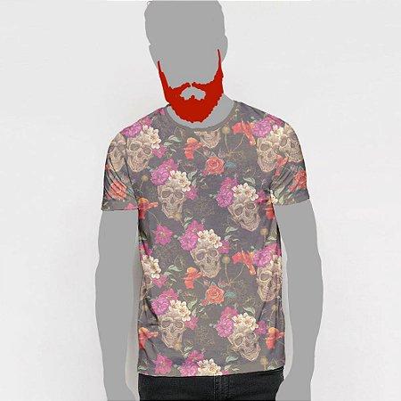 Camiseta, Caveira floral