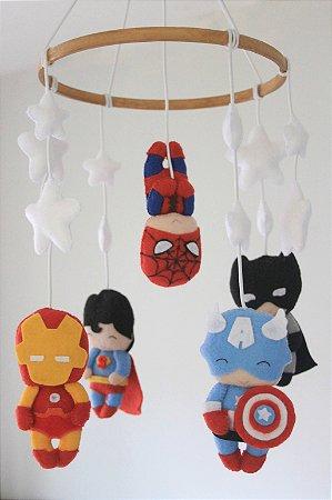 Móbile de Berço Super Heróis
