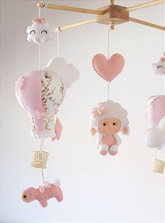 Móbile de Berço Balões e Ovelhas