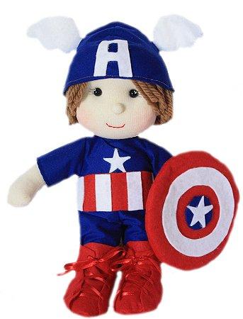 Boneco de Pano Capitão América