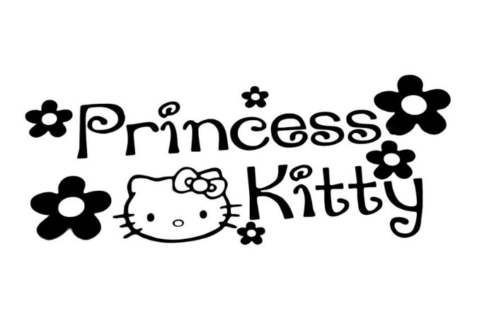 KIT ADESIVO PRINCESS HELLO KITTY