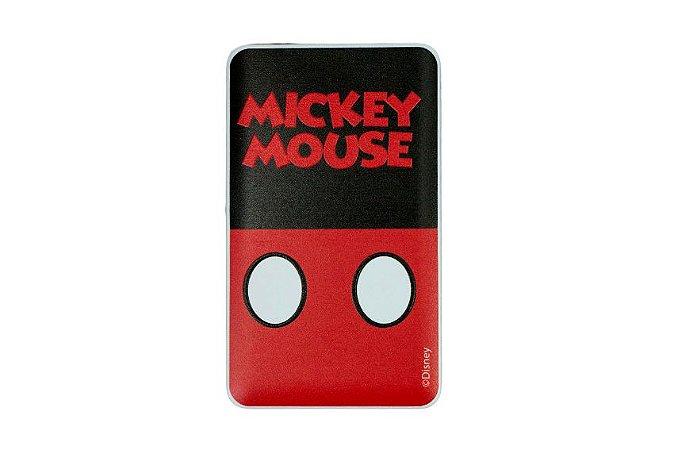 CARREGADOR PORTÁTIL CELULAR USB MICKEY BODY 2200mah COM LATERNA