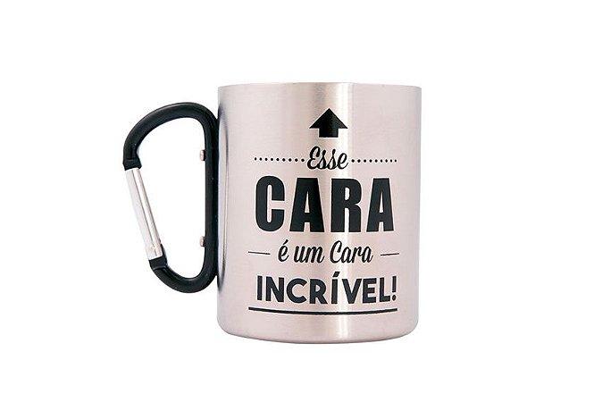 CHAVEIRO MOSQUETÃO CANECA CAMPING VIAGEM