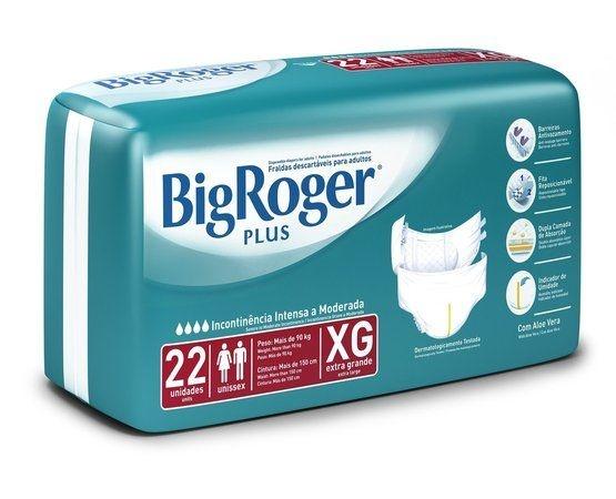 Fralda Geriatrica Big Roger Plus XG com 22 fraldas