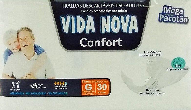 Fralda Geriatrica Vida Nova Confort G com 30 unidades