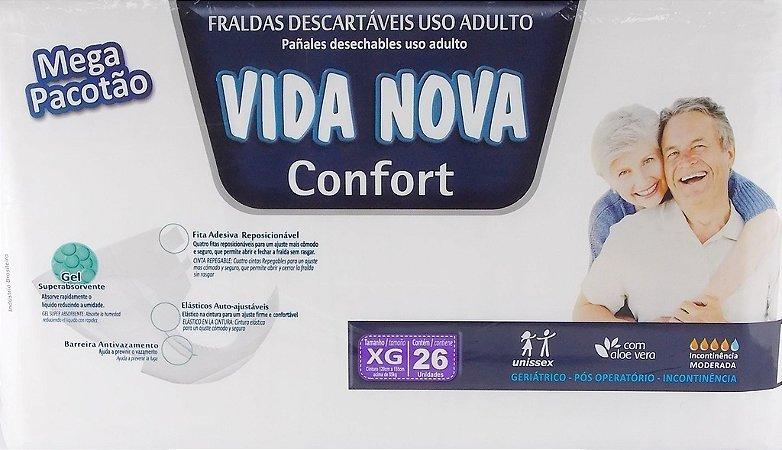 Fralda Geriatrica Vida Nova Confort  XG com 26 unidades