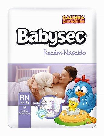 Fralda Descartavel Babysec Recem Nascido com 16 unidades