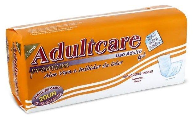 Absorvente Adulto Adultcare Premium com 20 unidades