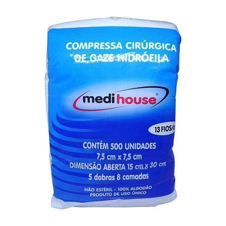 Compressa Cirúrgica Medihouse com 500 unidades