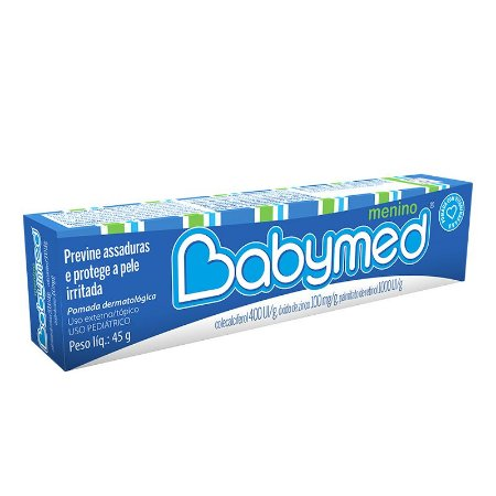 Pomada para assaduras Babymed Menino