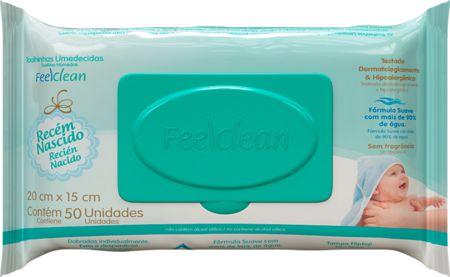 Lenços Umedecidos FeelClean Recém-nascido 50 unidades