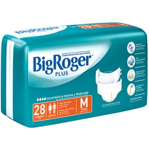 Fralda Geriátrica Big Roger Plus M com 28 fraldas