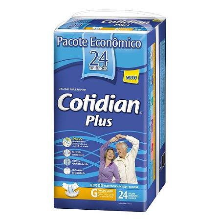 Fralda Geriátrica Cotidian Plus G com 24 fraldas