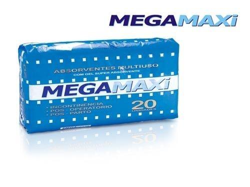Absorvente Adulto Megamaxi Tamanho Único com 20 unidades