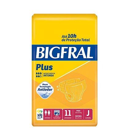 Fralda Geriátrica Bigfral Plus Juvenil com 11 unidades