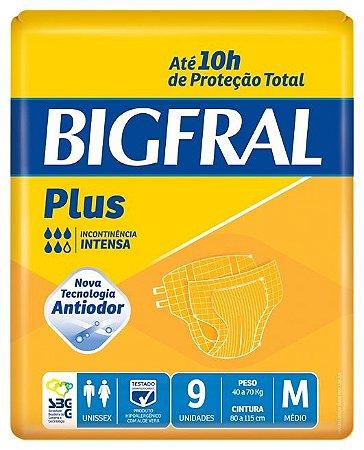 Fralda Geriátrica Bigfral Plus Média com 9 unidades