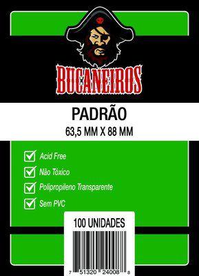 SLEEVES BUCANEIROS PADRÃO 63,5X88 - 100 UNIDADES