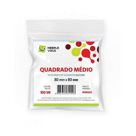 SLEEVES MEEPLE VIRUS BLUE CORE QUADRADO MÉDIO (80X80) - 100 UNIDADES